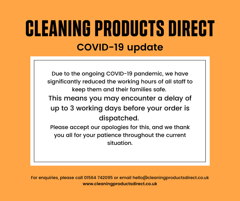 Cleaning Products Direct COVID-19 Order Delays